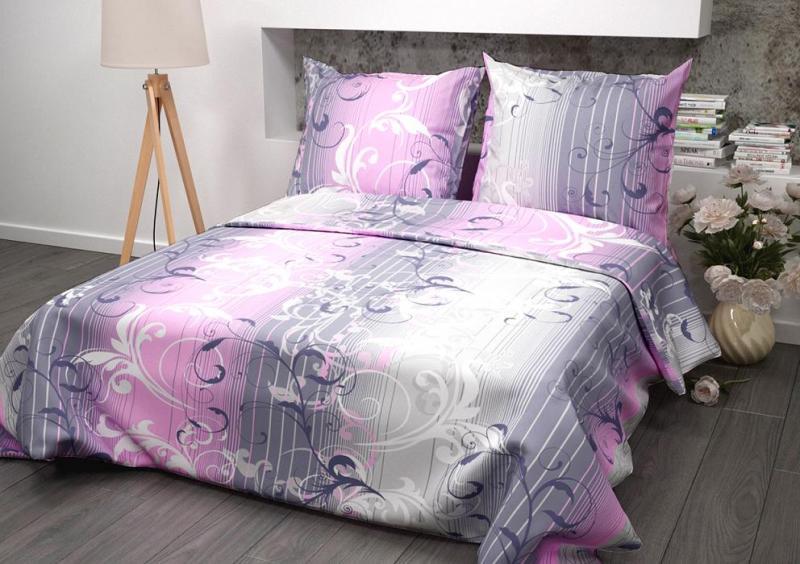Ткань бязь 150 ГОСТ Симфония розовый фото