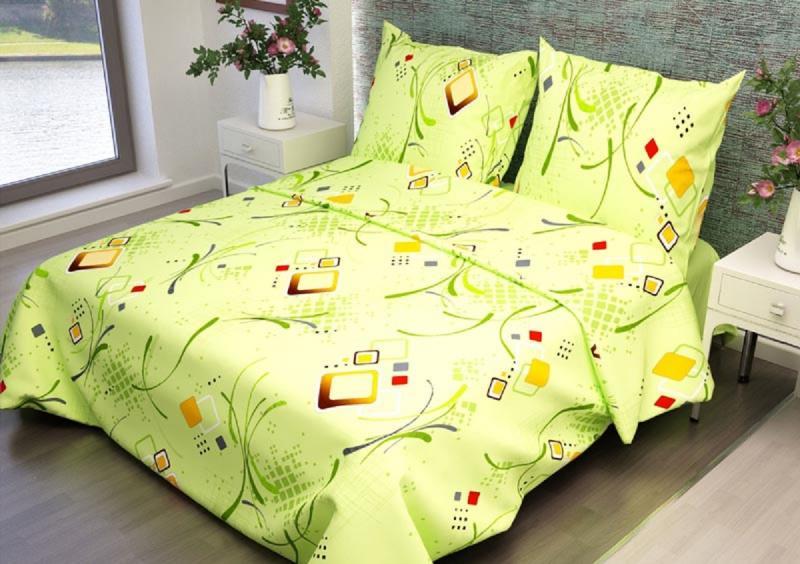 Ткань бязь 150 ГОСТ Вальс зеленый фото