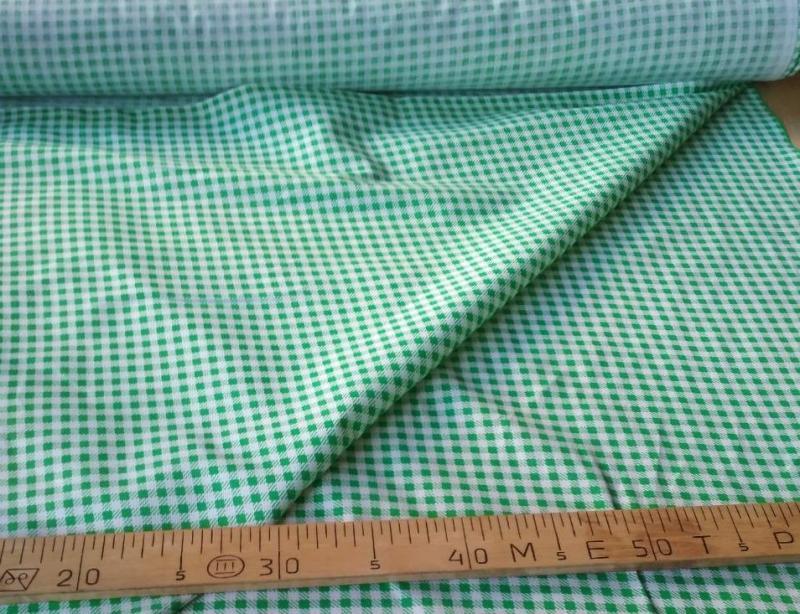 Ткань бязь 150 Клетка зеленая фото