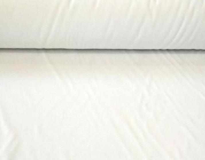 Ткань сатин однотонный белый 140 г 160 см фото