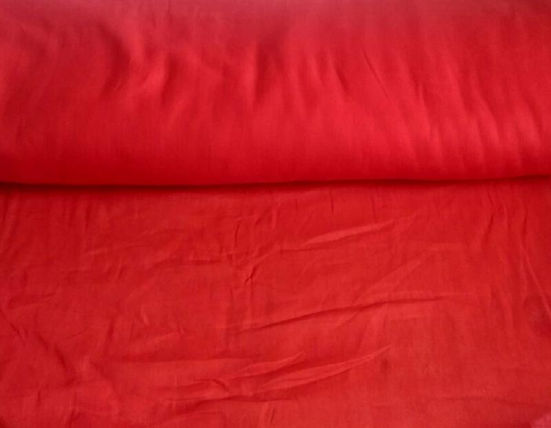 Ткань ситец однотонный 80 см 60 г красный фото