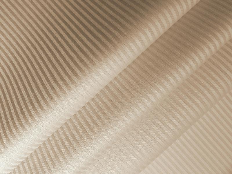 Ткань сатин-страйп 240 см 135 г полоска 0,3 см дымчатая роза фото