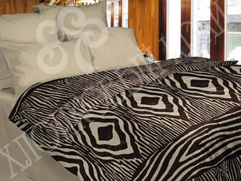 Комплект постельного белья евро Хлопковый край Сатин 366-54581 Кения фото