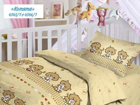Детское постельное белье из бязи Облачко 510-4545 Котята фото