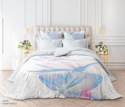Фото Комплект постельного белья Verossa Перкаль евро 544-2058 Pearl