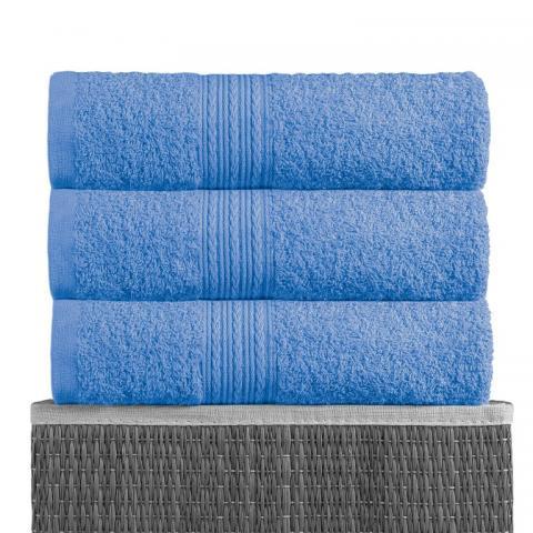 Полотенце махровое Bayramaly 70х140 голубое фото