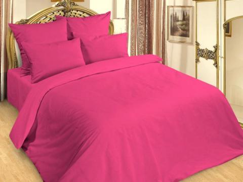 Фото Комплект постельного белья 1,5 спальный Сатин 261-244 Фуксия