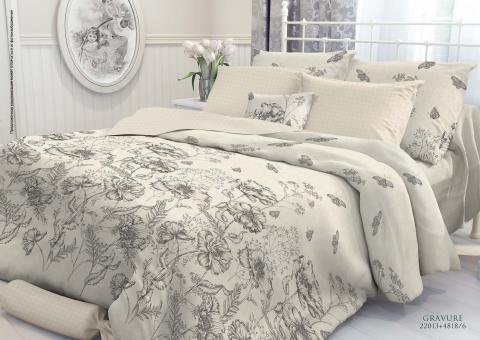 Комплект постельного белья евро Verossa Перкаль 544-2013 Gravure фото