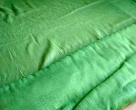 Ткань ситец однотонный 80 см 60 г зелёный фото