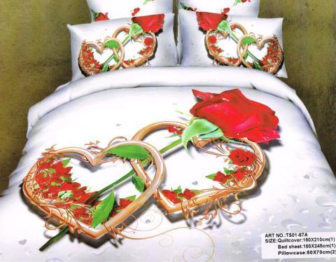 Постельное бельё Танго Сатин 1.5 спальный ts01-67a-50 фото