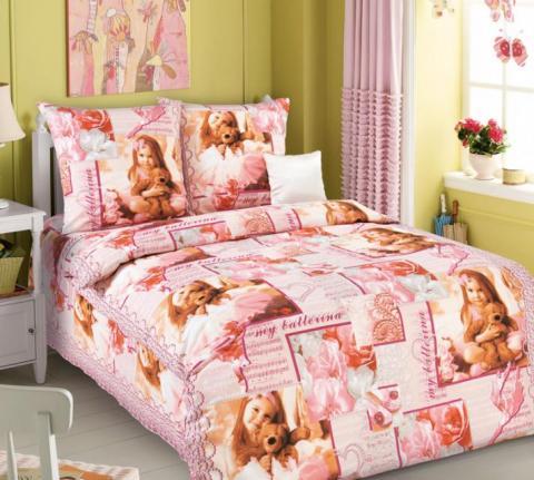 Фото Комплект постельного белья Балерина 1 бязь 1.5 спальный детский А1100193771