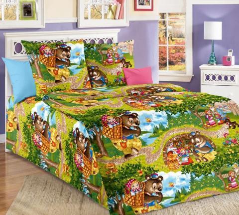 Фото Комплект постельного белья Машенька бязь 1.5 спальный детский А1100196591