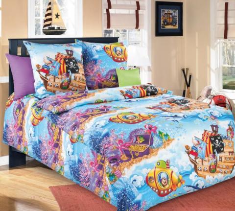 Фото Комплект постельного белья Пираты 1 бязь 1.5 спальный детский А1100194061