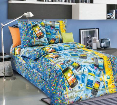 Фото Комплект постельного белья Смартфон 1 бязь 1.5 спальный детский А1100194541