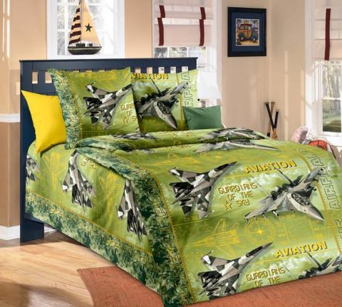 Фото Комплект постельного белья Стражи неба 2 бязь 1.5 спальный детский А1100195822