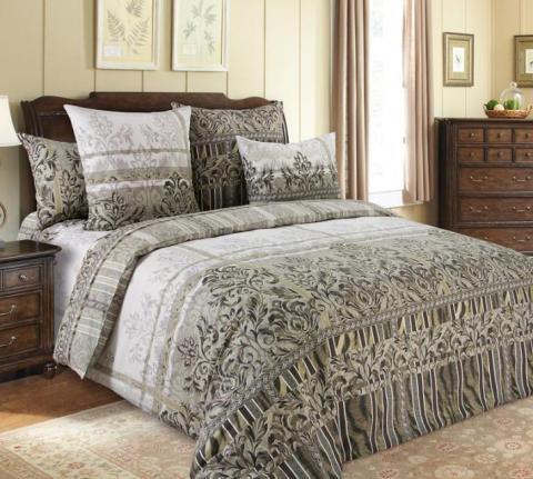 Фото Комплект постельного белья Бакарди 2 перкаль 1.5 спальный 1200П194632