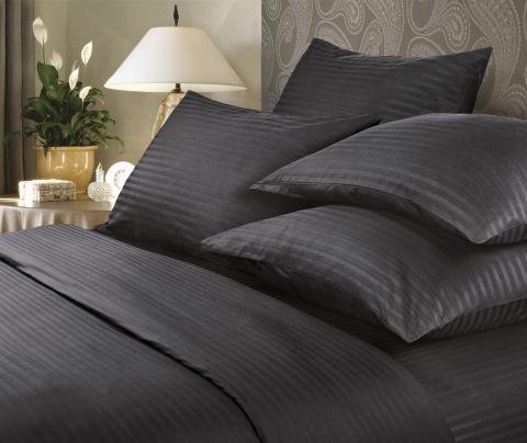 Фото Комплект постельного белья Verossa Сатин-страйп евро 564-7005 Black
