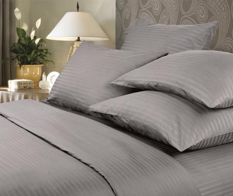 Фото Комплект постельного белья Verossa Сатин-страйп семейный 565-7032 Gray