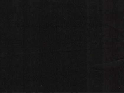 Сатин однотонный черный 125 г фото ткани