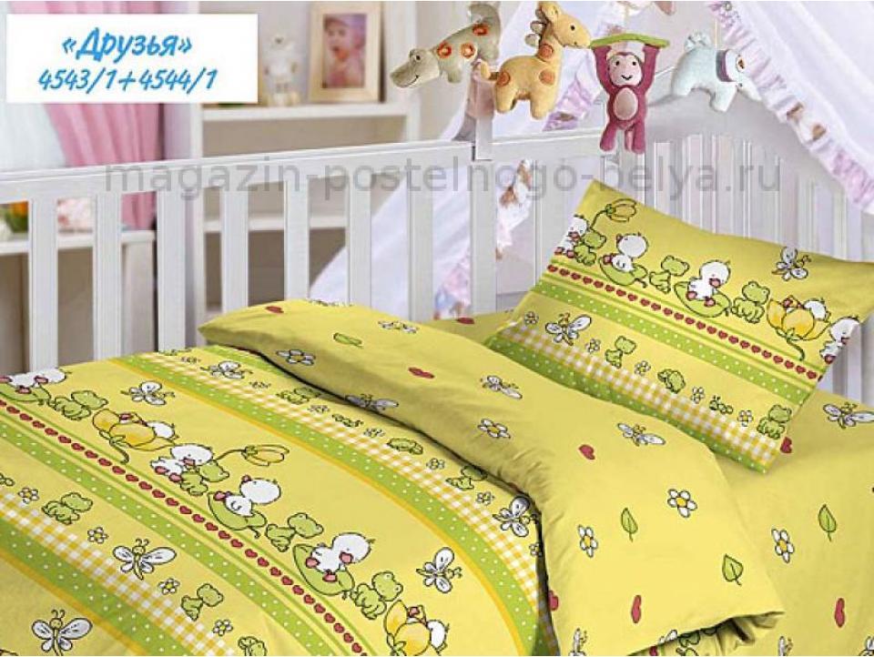 Детское постельное белье из бязи Облачко 510-4543 Друзья фото