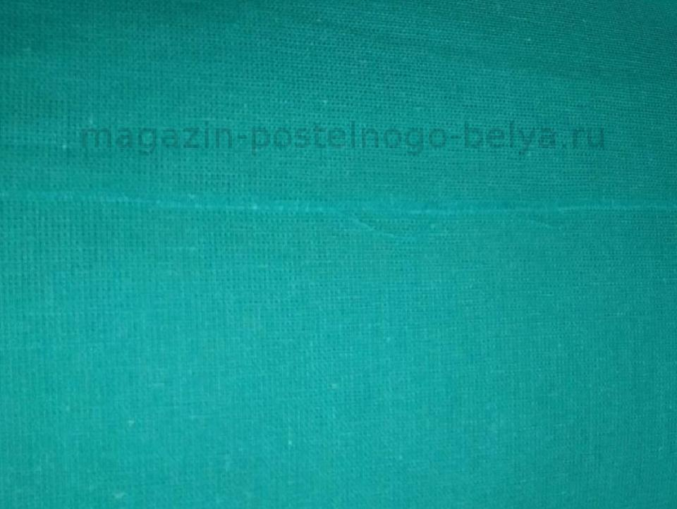 Ткань бязь 150 однотонная бирюза фото