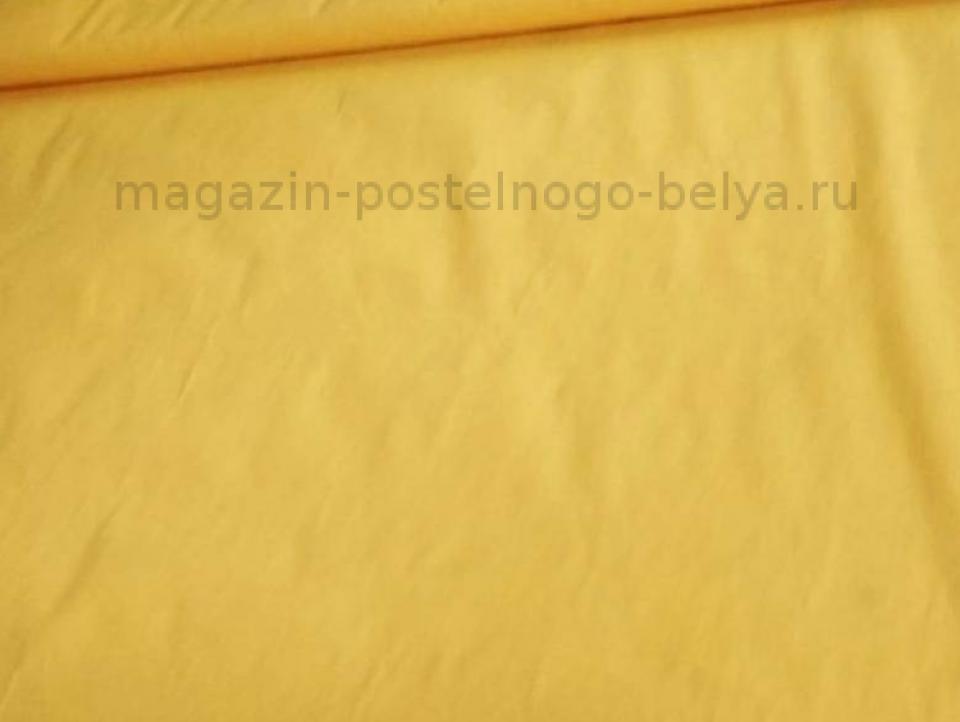 Ткань бязь 150 однотонная желтая фото