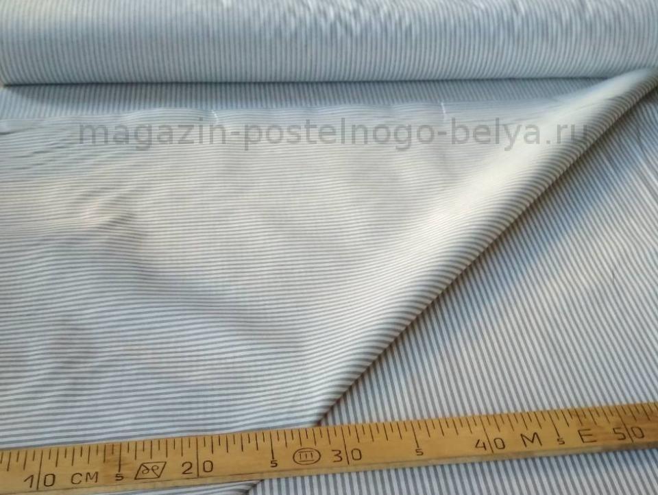 Ткань бязь 150 Полоска серая фото
