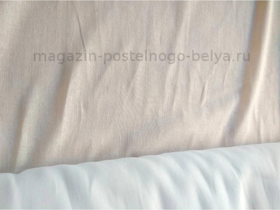 Ткань ситец однотонный 80 см 60 г белый фото