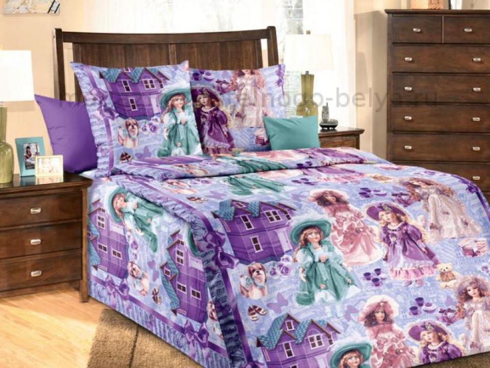 Фото Комплект постельного белья Куклы 1 бязь 1.5 спальный детский А1100192811