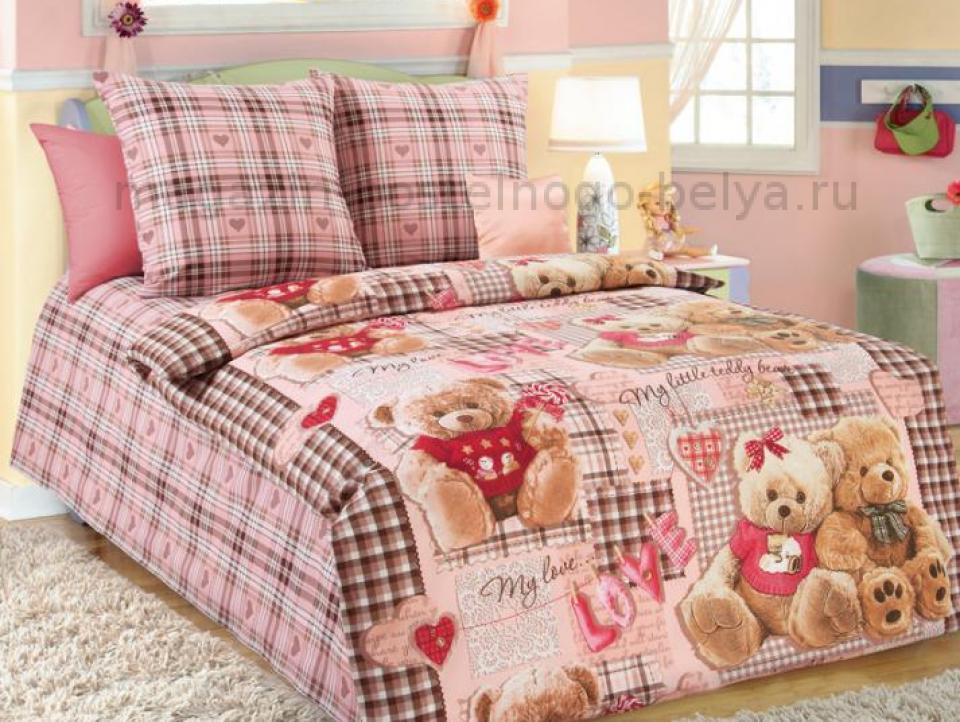 Фото Ткань перкаль 150 детская Плюшевые мишки 1 роз