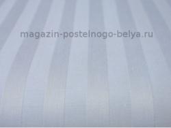Простыня на резинке 180 на 200 сатиновая 268-217 Полоса голубая фото
