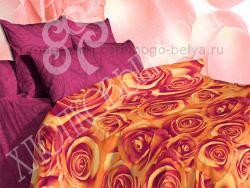 Комплект постельного белья евро Хлопковый край Сатин 364-53681 Искушение фото