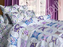 Комплект постельного белья евро Хлопковый край Сатин 364-54201 Калейдоскоп фото