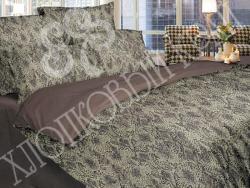 Комплект постельного белья евро Хлопковый край Сатин 366-54561 Амазония фото