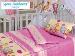 Детское постельное белье из бязи Облачко 510-3942 День рождения фото