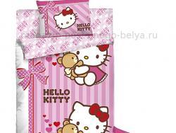 Комплект постельного белья 1.5 спальный детский Ранфорс Hello Kitty 511-160 фото