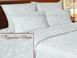 Комплект постельного белья евро Verossa Сатин 564-3269 Кружевная сказка фото
