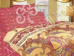 Постельное белье Хлопковый край Сатин 2 спальный с европростыней 363-37-5549-1 Молизе малина фото