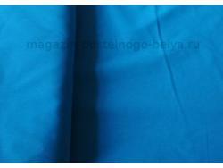 Ткань поплин однотонный Лазурь фото
