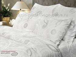 Комплект постельного белья 2 спальный Verossa Сатин 563-4643 Серебряный вальс фото
