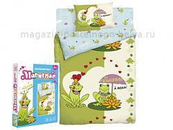 Комплект постельного белья 1.5 спальный детский 511-201 Лягушка фото