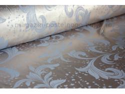 Ткань сатин жаккард голубой фото