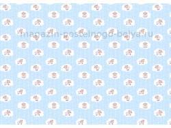 Ткань ситец детский 95 см 100 г Овечки 2 фото