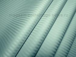 Ткань сатин-страйп 240 см 135 г полоска 0,3 см мята фото