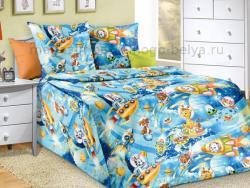 Фото Комплект постельного белья Космические приключения 1 бязь 1.5 спальный детский А1100198141