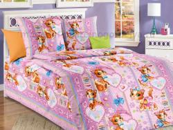 Фото Комплект постельного белья Мур Мур бязь 1.5 спальный детский А1100196831