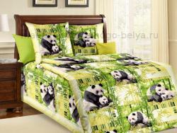 Фото Комплект постельного белья Панды бязь 1.5 спальный детский А1100196921