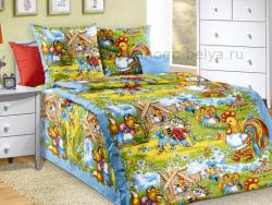 Фото Комплект постельного белья Золотой петушок 1 бязь 1.5 спальный детский А1100197981