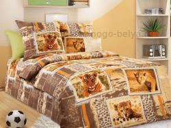 Фото Комплект постельного белья Зов джунглей 1 бязь 1.5 спальный детский А1100195921