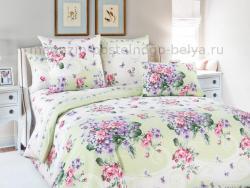 Фото Комплект постельного белья Фиалка 1 бязь евро 4100Б195071